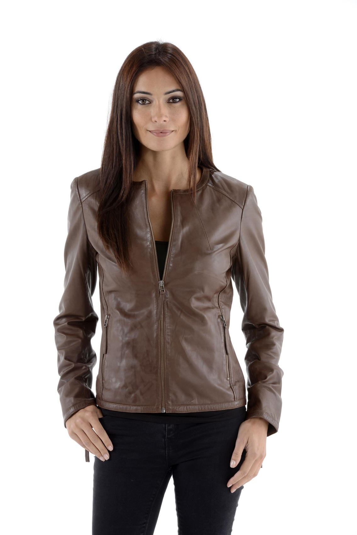spencer cuir vestes blazer cuirs guignard en cuir agneau ref 17900 yag16 noir. Black Bedroom Furniture Sets. Home Design Ideas