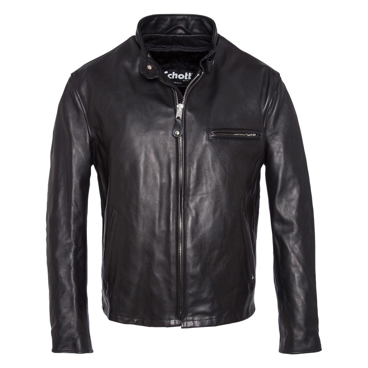 Vêtement en cuir Blousons SCHOTT noir
