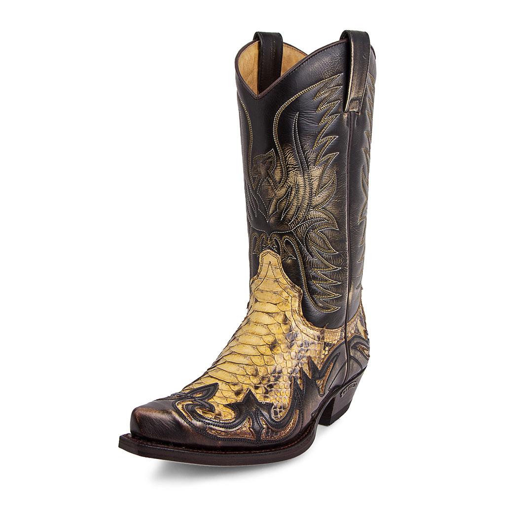 ee27199e8a5 Santiag leather sendra 3241 cuervo denver tierra / python barrel panizo 2
