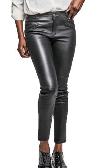 9ce195434805 Pantalon cuir CUIRS GUIGNARD en cuir agneau-réf 100888 day18-noir