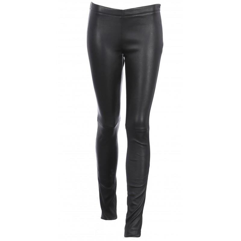 d4f9d489df9f Pantalon cuir OAKWOOD en cuir agneau-ref F 03-60438-noir
