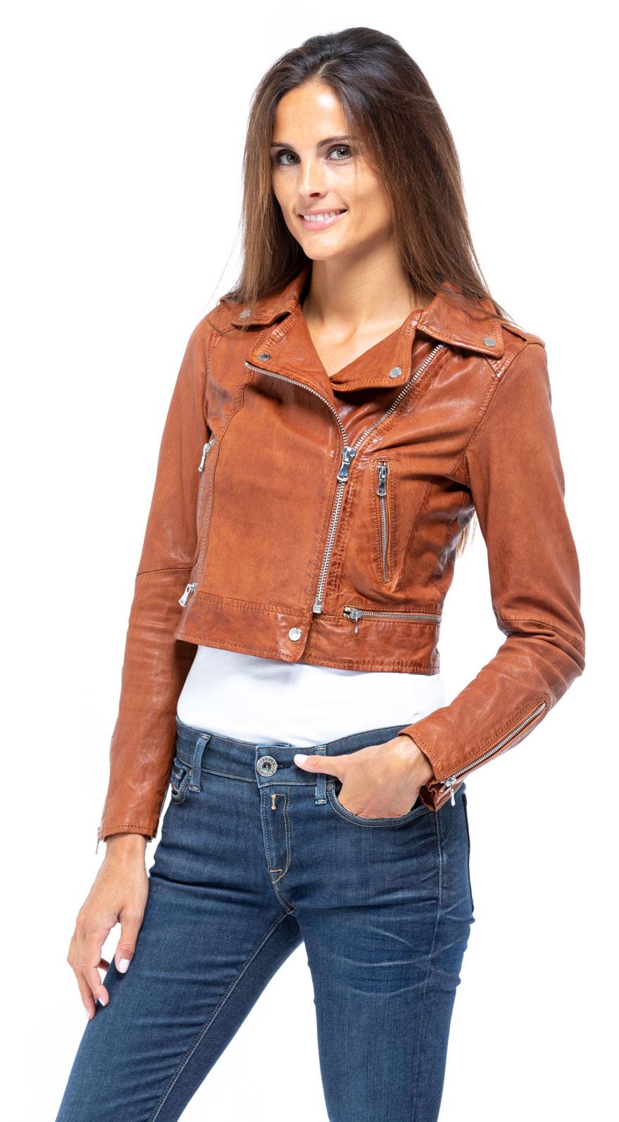 0068b430f blouson cuir femme agneau cognac 62966 oakwood perfecto  mannequin 2  068945500 1659 28092018.jpg
