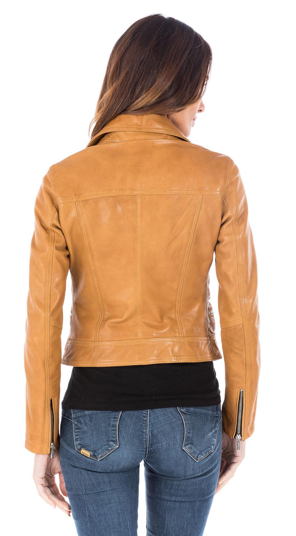 veste cuir femme couleur camel les vestes la mode sont populaires partout dans le monde. Black Bedroom Furniture Sets. Home Design Ideas