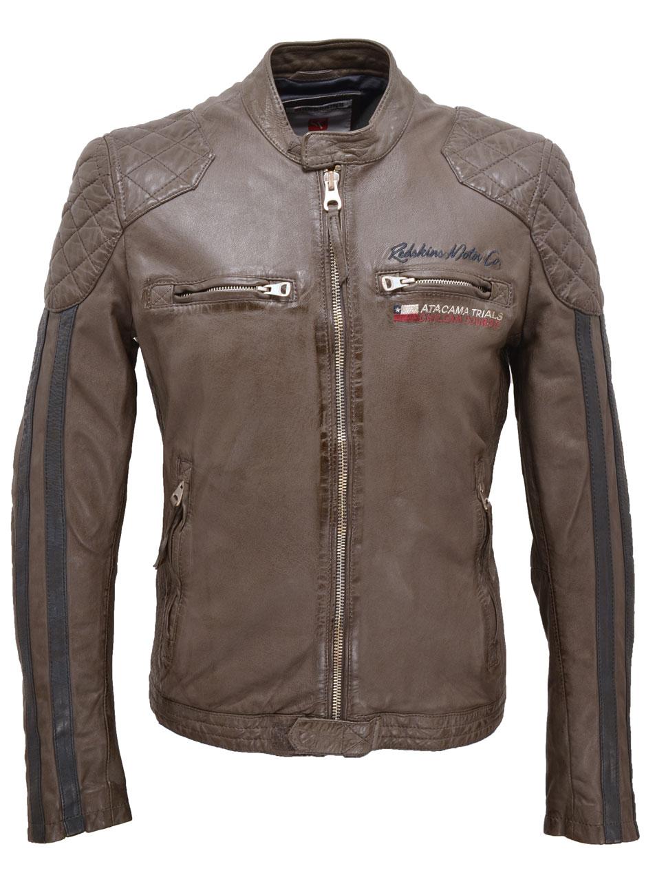 Veste en cuir motard homme