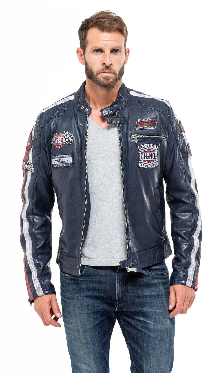 veste style motard homme