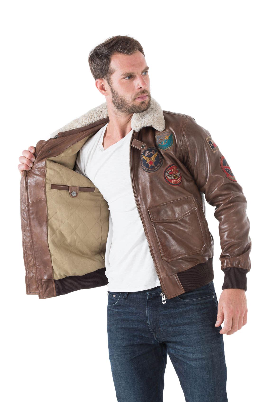 blouson homme aviateur cuir souple blouson schott aviateur. Black Bedroom Furniture Sets. Home Design Ideas