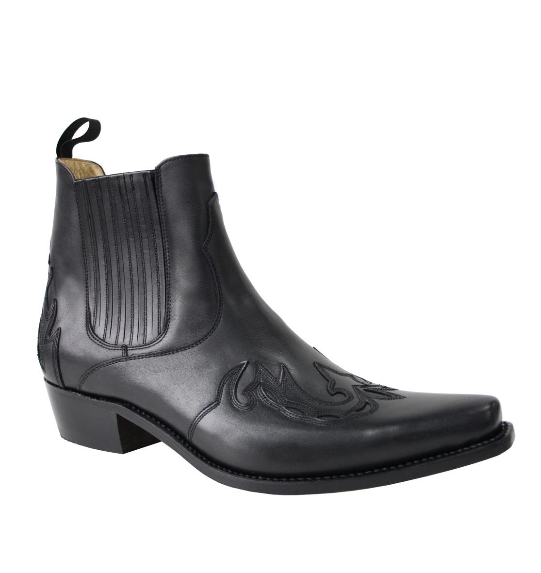 Vêtement en cuir Santiags homme SANCHO noir