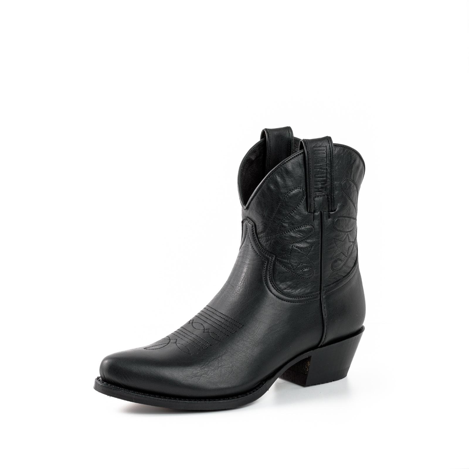 Mayotte botas de cuero negro 2374