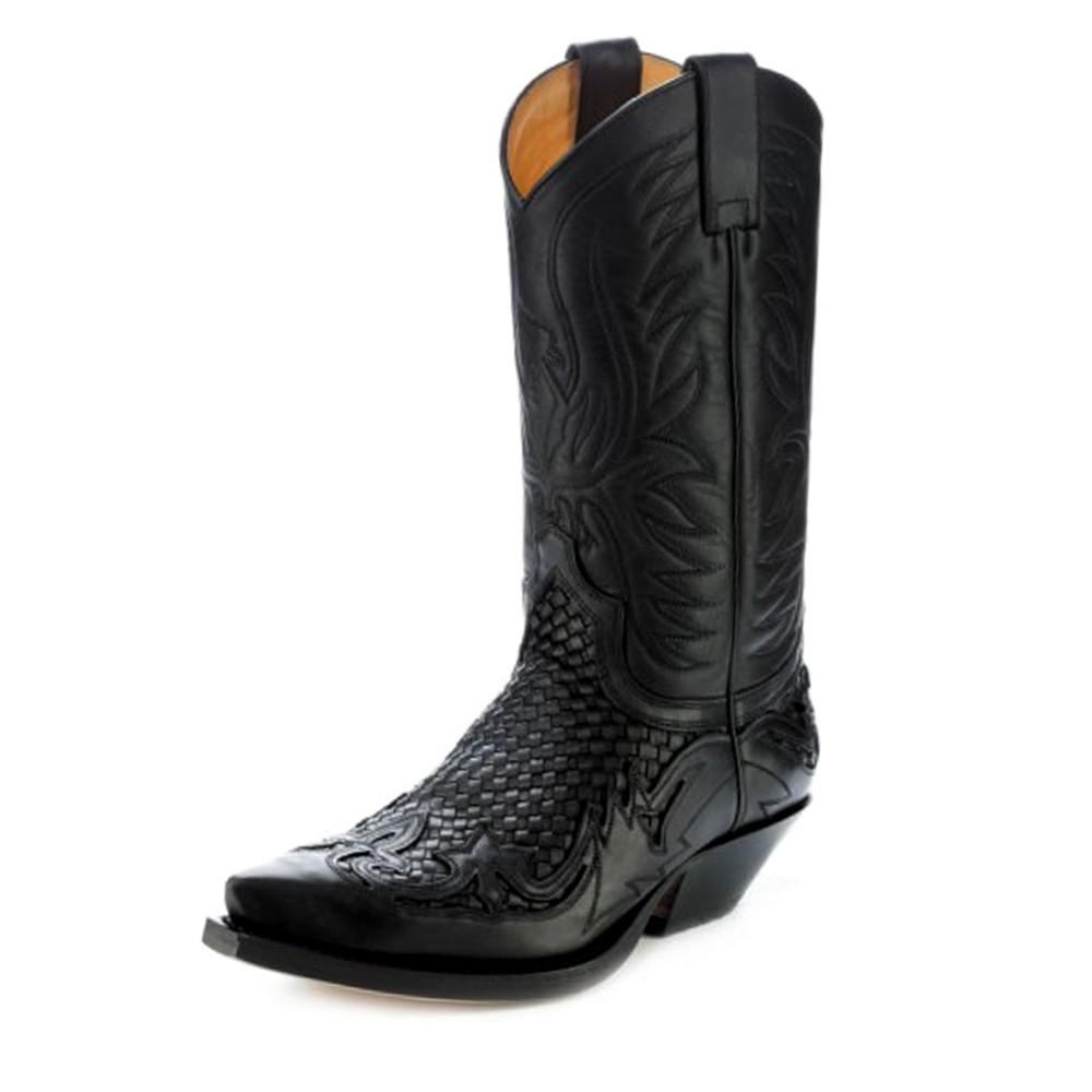 e1bd6f48a74 Santiag leather sendra 3241 cuervo sweater oil negro-trenzado negro