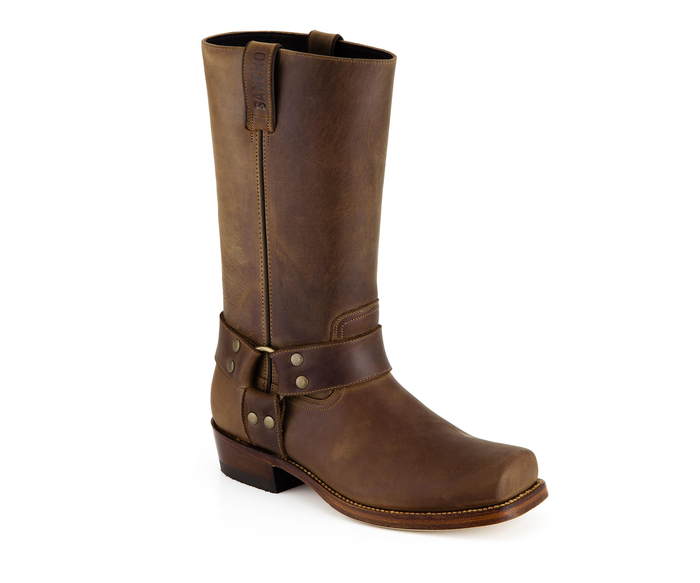 Bottes cuir vachette marron Sancho Abarca Boots Farmer 541 71