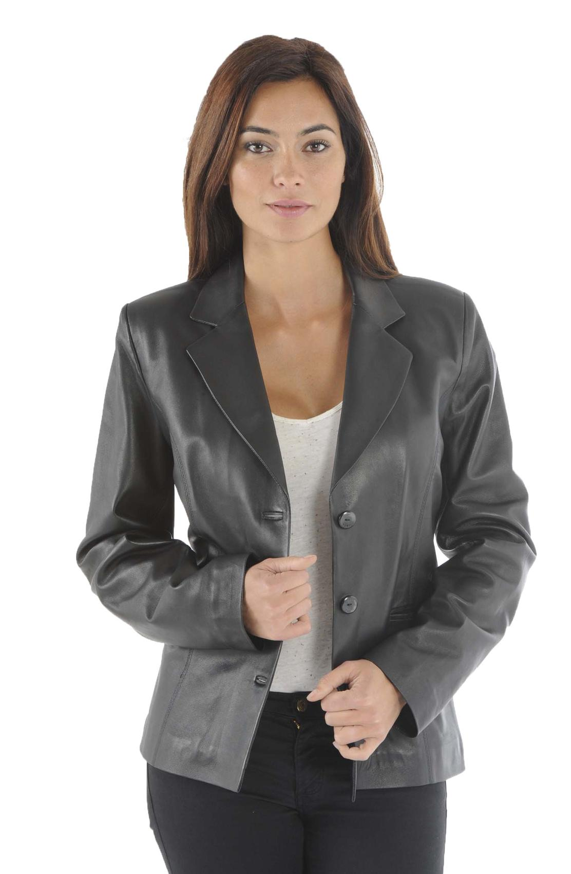 veste blazer cuir femme veste en cuir femme cuirs guignard. Black Bedroom Furniture Sets. Home Design Ideas