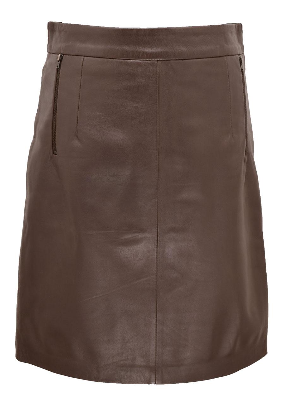 Mocha women's leather straight skirt hap18 dally