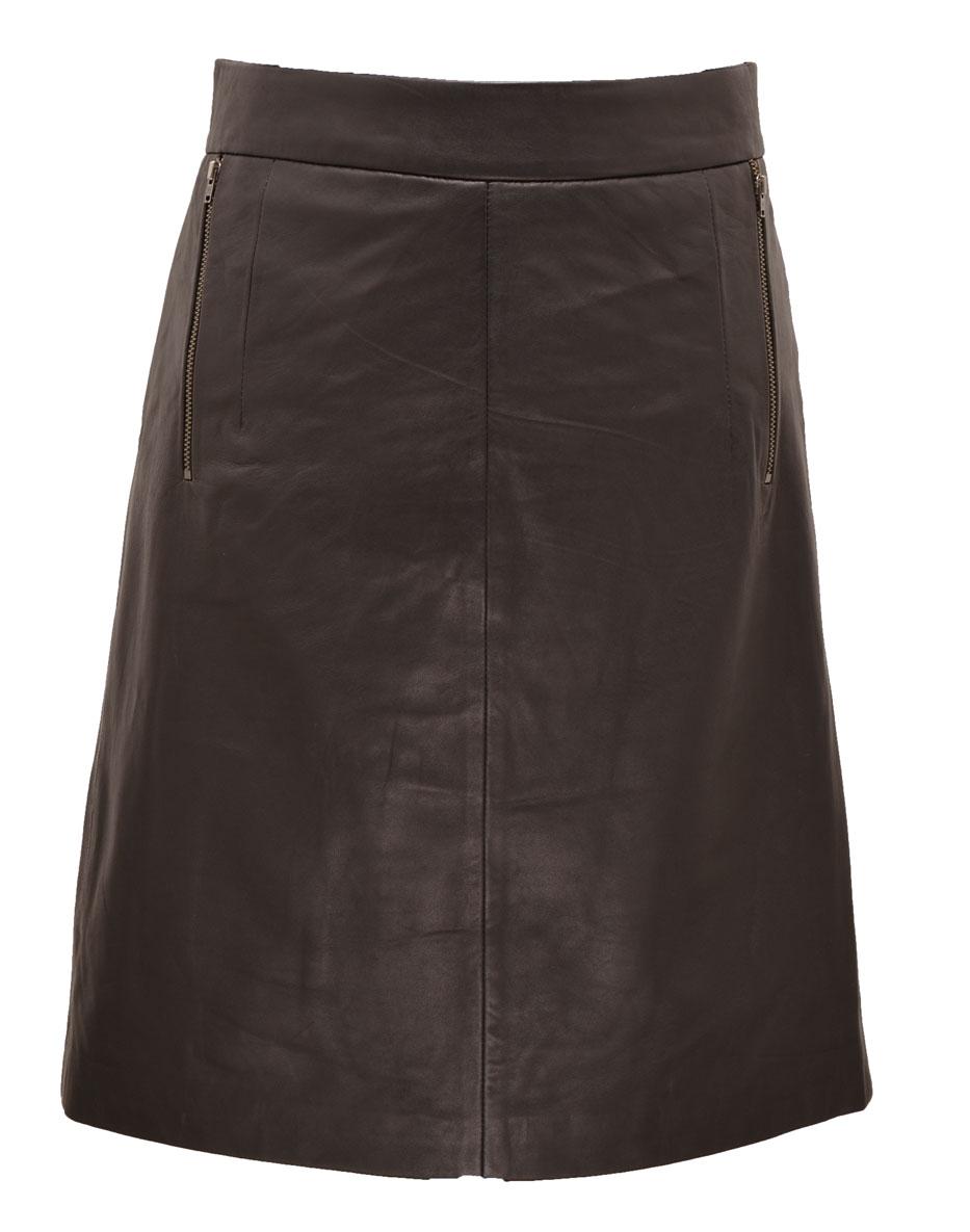 Robes Jupes Cuir En Cuir Agneau Ref Hap18 Dally Noir Noir