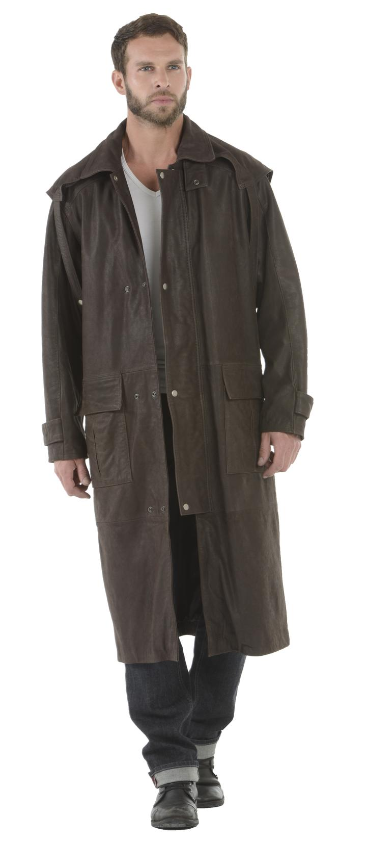 manteau cache poussiere cuir homme manteaux populaires. Black Bedroom Furniture Sets. Home Design Ideas
