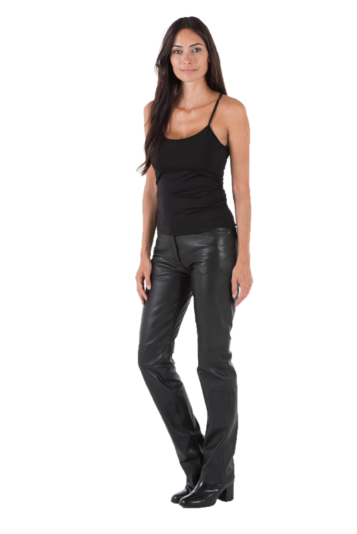 Leather Trousers Cuirs Guignard Of Leather Lamb Ref 501 Noir