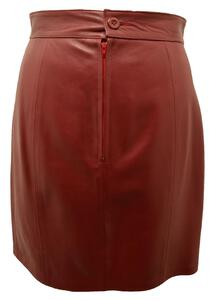 jupe cuir femme ANNA ROUGE