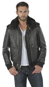 blouson cuir homme marron flight jacket aviateur 184 sm face