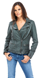 Blouson cuir femme agneau bronze style perfecto 62065 video oakwood (1)