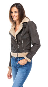 blouson cuir femme bigaro style bombardier perfecto (2)