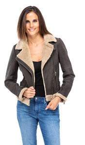 blouson cuir femme bigaro style bombardier perfecto (4)