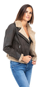 blouson cuir femme bigaro style bombardier perfecto (5)