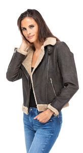 blouson cuir femme bigaro style bombardier perfecto (6)