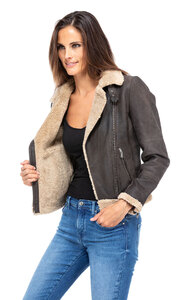 blouson cuir femme bigaro style bombardier perfecto (7)