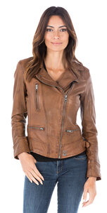Blouson cuir femme perfecto Oakwood video 62065-000131-1