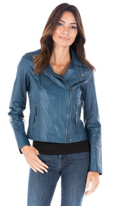 Blouson cuir femme perfecto Oakwood video 62065-000142-1