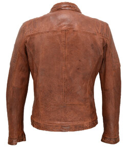 blouson cuir homme cave gipsy style moto tendance dos