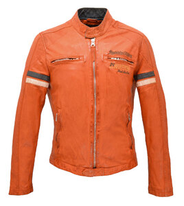 blouson cuir homme moto redskins orange 113 (3)
