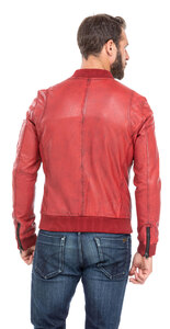 blouson cuir homme style teddy redskins 110 rouge (7)