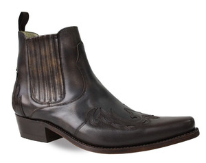 boots cuir sancho boots marron monk 6152 (1)