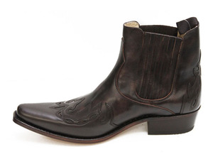 boots cuir sancho boots marron monk 6152 (3)