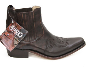 boots cuir sancho boots marron monk 6152 (6)