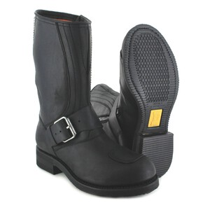bottes cuir moto mayura crazy old negro réf 113 (10)