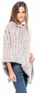 Poncho lapin femme gipsy accessoire chaud hiver mannequin (3)
