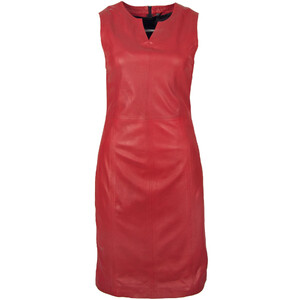 robe cuir femme gipsy rouge 12402 (1)