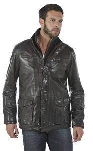 veste cuir homme marron clinton marron face