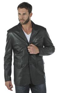 veste cuir homme classique style blazer cuir  steeve face