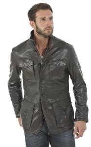 veste cuir homme marron style blazer speed face