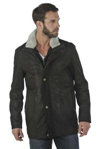 veste cuir homme marron tyler timber pose