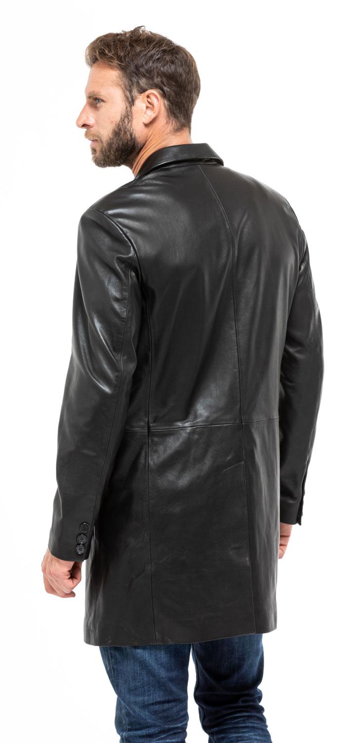 Vestes & Trois Quart cuir en cuir agneau réf 2160 yag18 noir