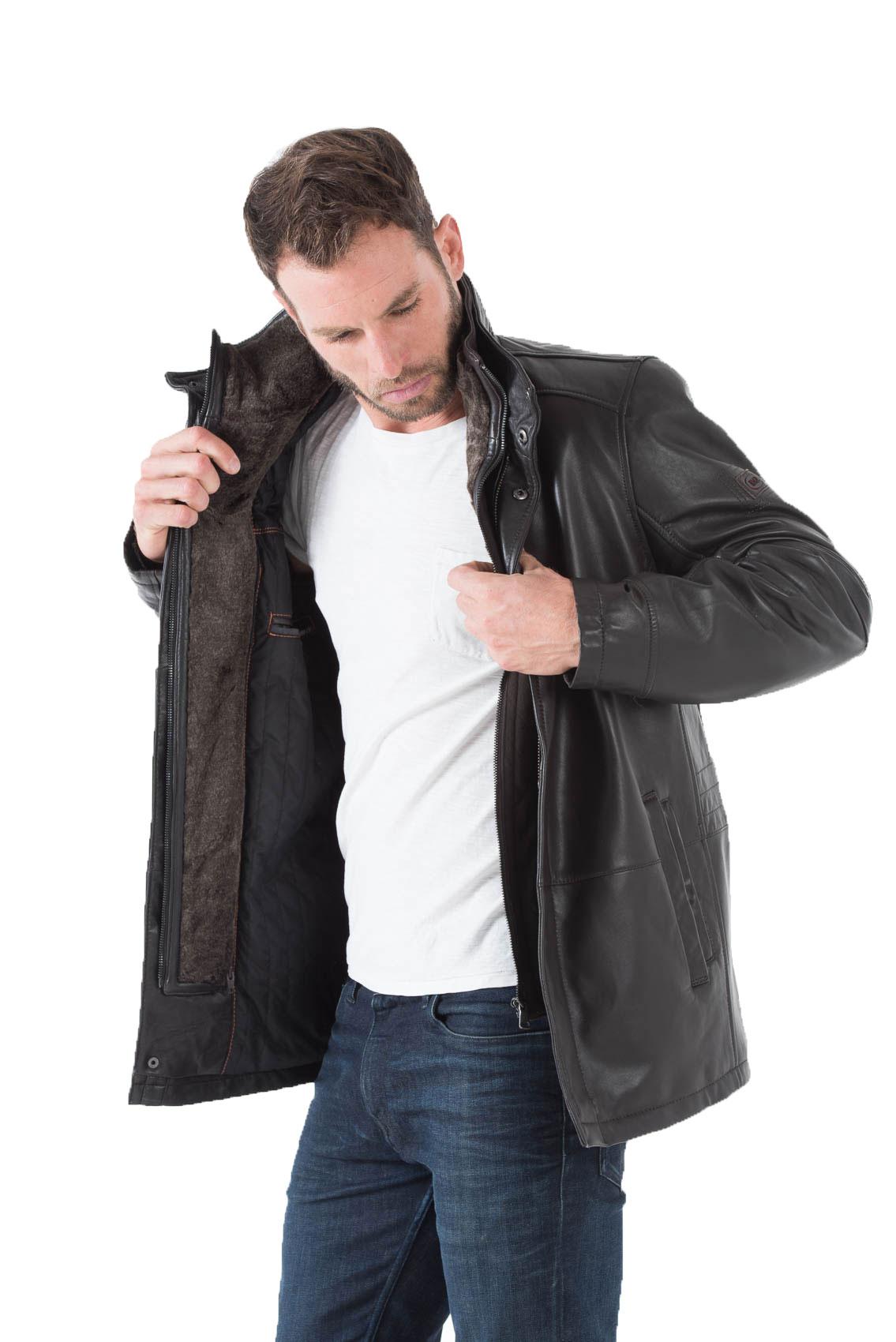 manteau marron fonce homme manteaux populaires et branch s en france. Black Bedroom Furniture Sets. Home Design Ideas