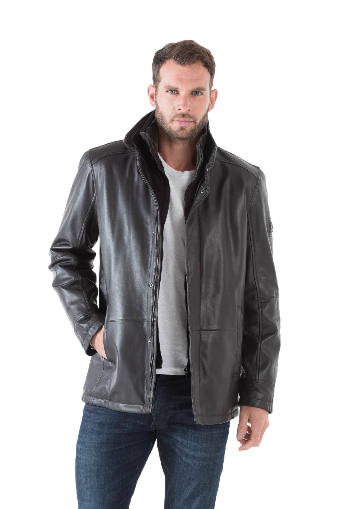 veste cuir en hiver les vestes la mode sont populaires partout dans le monde. Black Bedroom Furniture Sets. Home Design Ideas
